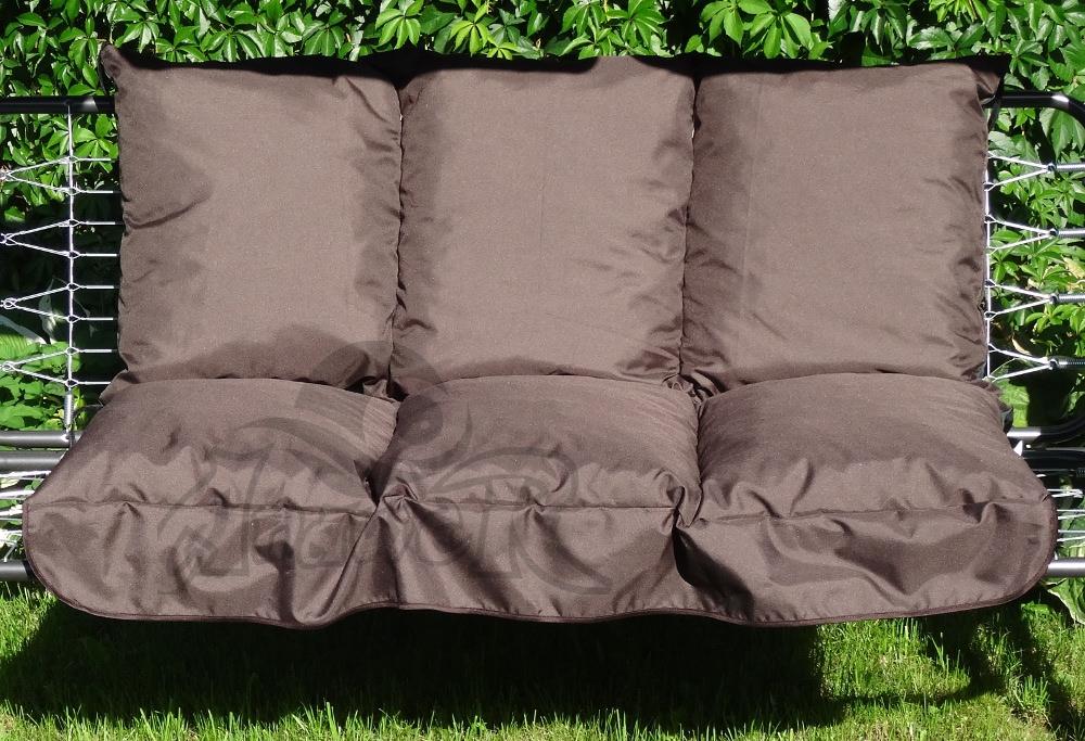 Poduszka Na Huśtawkę Ogrodową 120 Cm Kolor Brąz